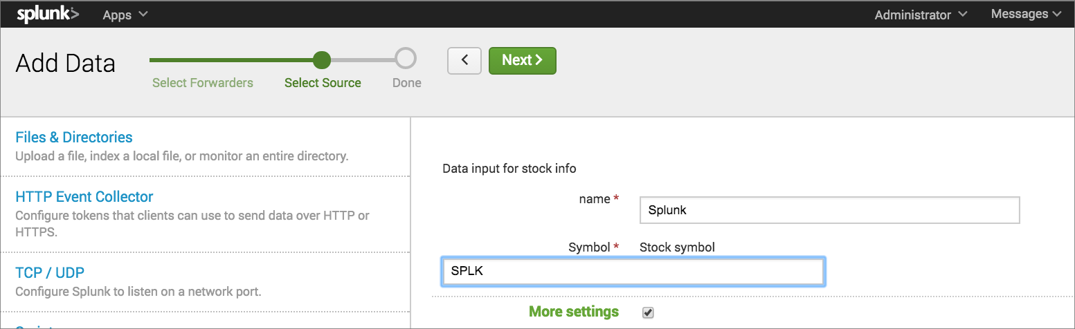 Use Your Add On Splunk